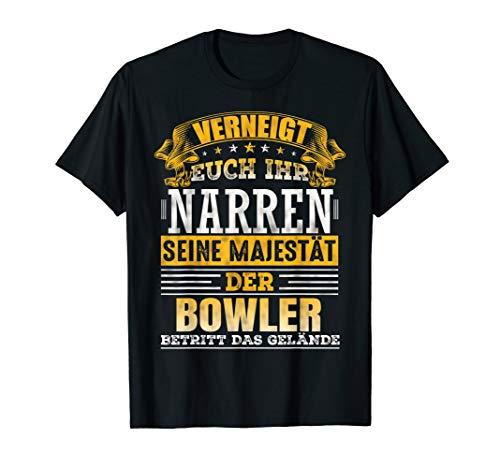 Retro Vintage Bowlen Bowler Kostüm Bowling Kugel Geschenk T-Shirt