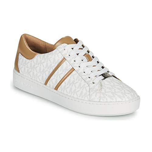 MICHAEL KORS Keaton Stripe Sneaker Unlined Bright White 43R1KTFS2B 36