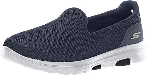 Skechers GO Walk 5-15901 Sneaker, Navy/White, 9 W US