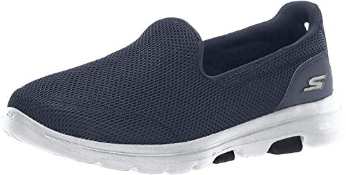 Skechers Women's GO Walk 5-15901 Shoe, Navy/White, 7.5 M US