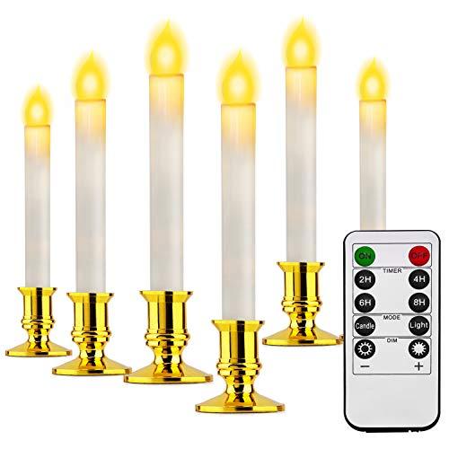 LED Kerzen, Kriogor LED Flammenlose Tealights, Flackern Teelichter, Elektrische Kerze Lichter Batterie Dekoration für Weihnachten,Ostern, Hochzeit, Party (6 warmweiß)