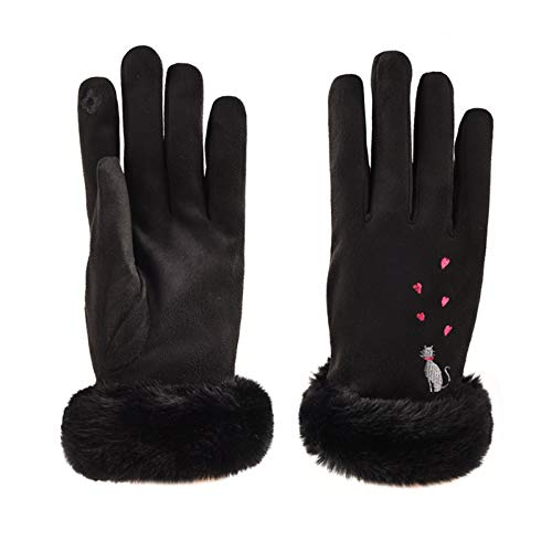 Orderking Handschuhe Damen Fahrradhandschuhe Winter Laufen Touchscreen Leicht Elastisch Sporthandschuhe Fitness Camping Wandern Reiten Bergsteigen mit Warme Winddicht rutschfest