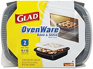 Glad Pans & Lids, Ovenware, 2 ct (Pack of 6)