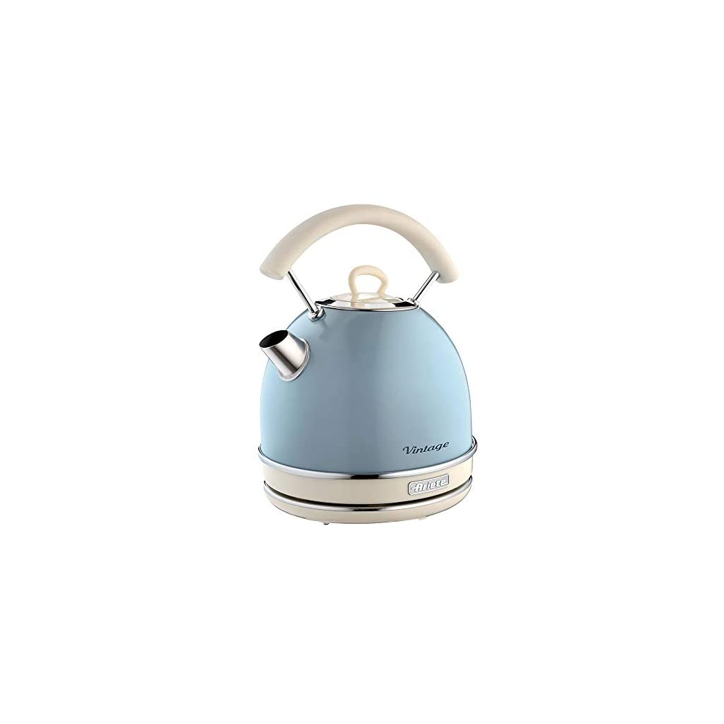 Ariete Retro Style Dome Kettle - 1.7 Litre Capacity - Blue
