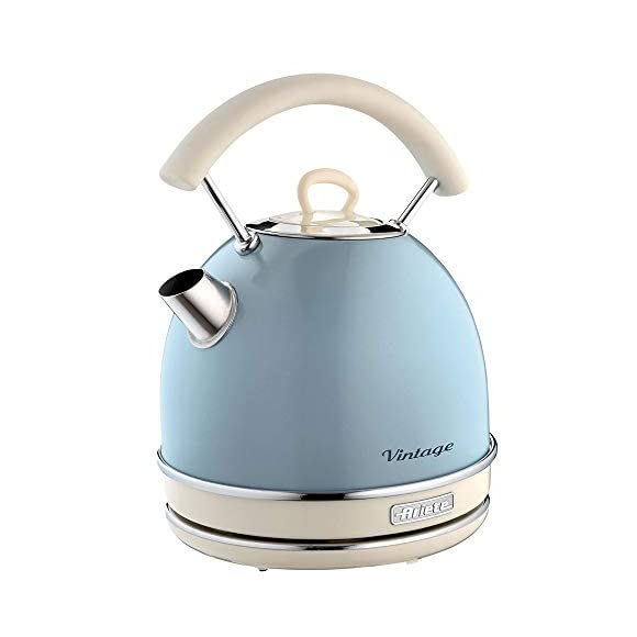 Ariete Retro Style Dome Kettle - 1.7 Litre Capacity - Blue