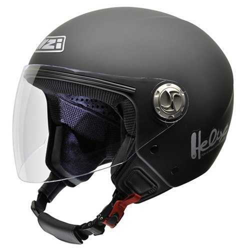 NZI 050203G067 Helix IV Metal Casco de Moto Goma Negro, Talla 60-61 (XL)