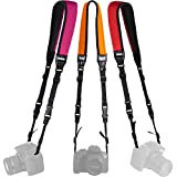 Vivitar 3-Pack Universal Neoprene Neck Camera Strap for DSLR, Mirrorless, Point/Shoot Cameras, Great for Beginners and Professionals