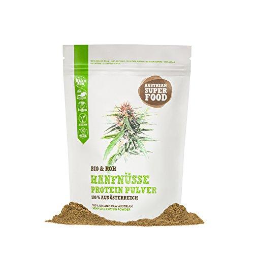 BIO Protein Eiweisspulver Hanfnüsse roh, natürlicher Muskelaufbau 350 gramm Superfood