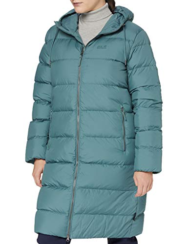 Jack Wolfskin Damen CRYSTAL PALACE COAT winddichter Daunenmantel, north atlantic, L