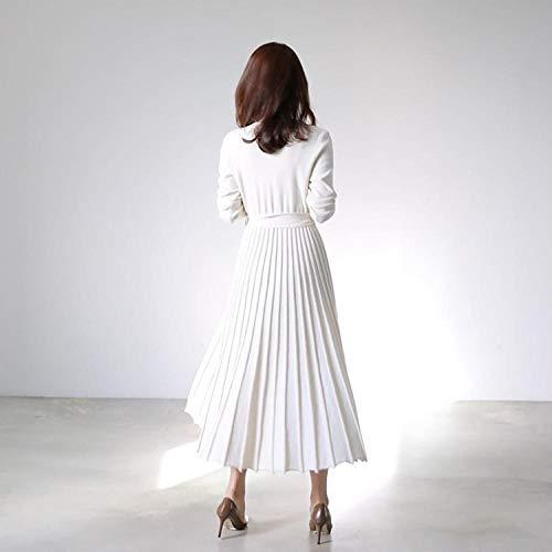 huangpeng - Running-Longsleeves für Mädchen in Weiß, Größe L