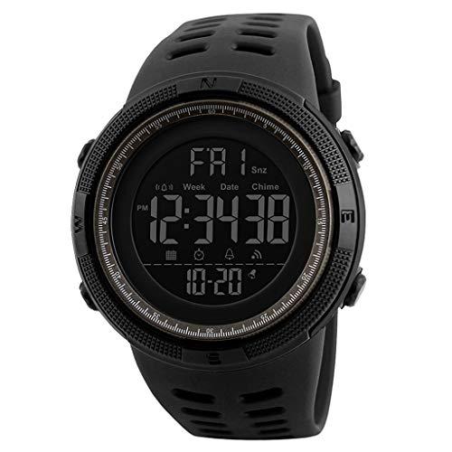 Prettyia Reloj Digital para Hombre, 50 Metros de Relojes Deportivos a Prueba...