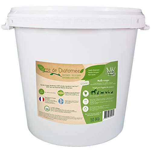 L'Hierbe Hau® Tierra de diatomeas blanca alimentaria – Cubo 10 kg – Se puede utilizar en agricultura biológica – origen natural sin transformación química – muchos usos
