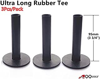 "A99 Golf 3pcs/Pack Ultra Long Rubber Tees Black Color 3 3/4"" (95mm)"