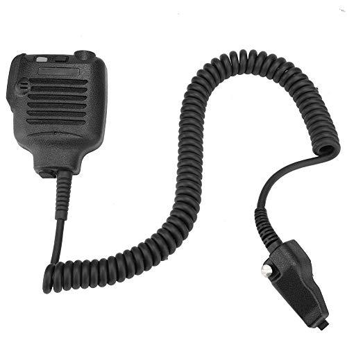 Mini handmicrofoon PTT waterdichte microfoonluidspreker voor KENWOOD TK280 TK380 walkie talkie handmicrofoon, waterdichte handvrije draagbare microfoon, 360 graden draaibaar ontwerp en dikke kabel