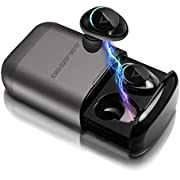 True Wireless Earbuds, ABLEGRID Pyxis Hi-Fi Stereo Earphones Bluetooth 5.0 Headphones with Deep Bass, 25H Playtime, IPX5 Waterproof Auto Pairing Sports Headsets, CVC 6.0 Noise Canceling Built-in Mic