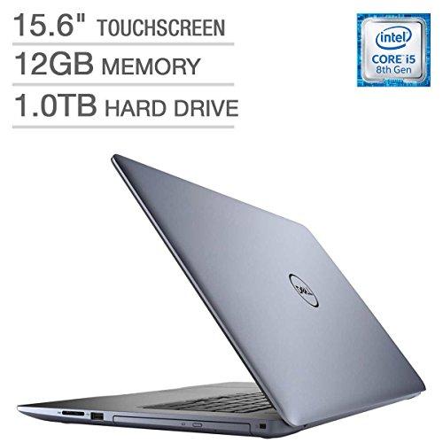 2018 Dell Inspiron 15 5000 15.6-inch Touchscreen FHD 1080p Premium Laptop, Intel Quad Core i5-8250U Processor, 12GB RAM, 1TB Hard Drive, DVD Writer, Backlit Keyboard, Bluetooth, Blue