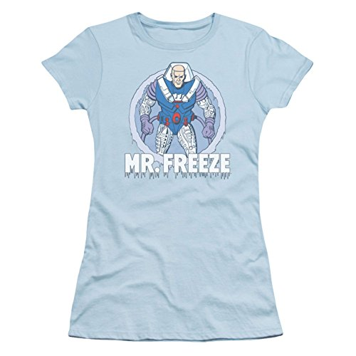 Dc Comics - La camiseta de Sr. Freeze mujeres jóvenes en azul...
