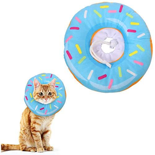 Mascota Inflable del Collar del Gato del Collar de Perro de recuperación Elizabeth Círculo Almohada Cofortable Cono Suave Blow Up para la Pequeña Mediana Perros y Gatos Curación de Heridas (Azul XL)