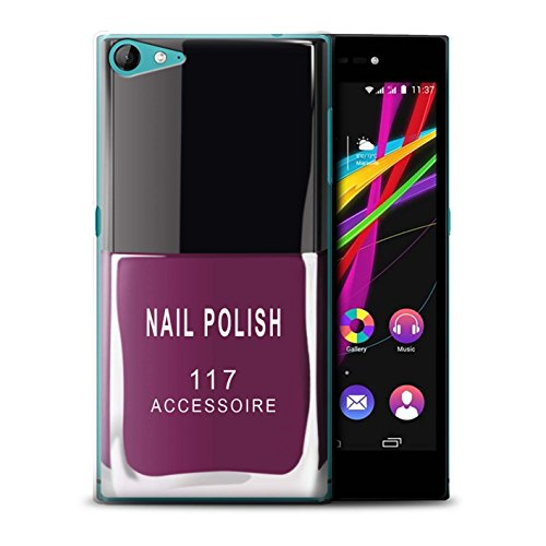 Stuff4® hoes/case voor Wiko Highway Star 4G / roze patroon/nagellak/make-up collectie