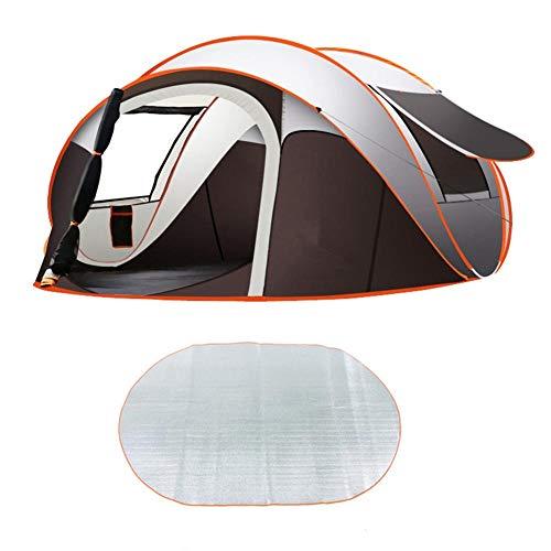 Tenda da esterno a velocità automatica tenda aperta tenda da campeggio 3-6 persone pop-up istantaneo semplice set rapido 2 porte finestra finestra impermeabile grande famiglia privacy tenda viaggio@T