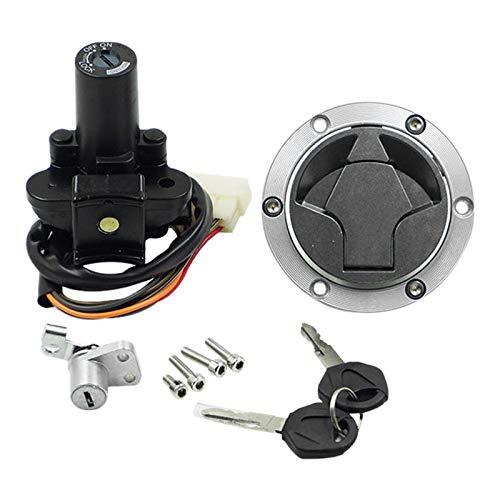 Huante - Cerradura de interruptor de encendido de moto, cerradura de tapón de depósito de combustible para Ninja 250 2008 – 2012 300 2013 – 2017