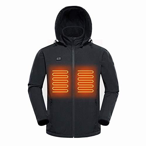 WANGLX Cappotto Riscaldato da Uomo Abbigliamento per Ricarica Elettrica Scaldamani Riscaldante per...