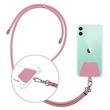 Cell Phone Lanyard Neck Strap takyu Universal Phone Strap with Adjustable Polyester Crossbody Cell Phone Lanyard Compatible with Most Smartphones  Pink