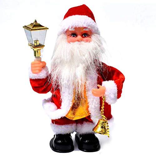 YeahiBaby Babbo Natale Musicale Canta Albero Natale Decorazioni Musicale Giocattoli Natale per Bambini