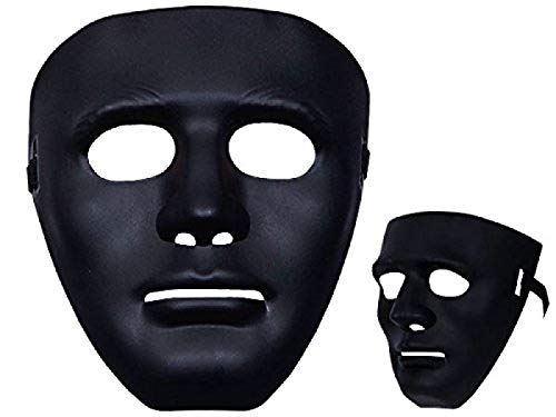 Alsino Totenkopfmaske Vendetta Maske Karneval Saw Fasching Maske Blue Mask Kostüme Geist, wählen:Mas-09 Maske schwarz
