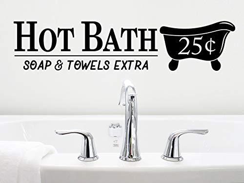 Hot Bath 25 Cents zeep en handdoeken extra muur Decal Vinyl Decal badkamer muurstickers badkamer tekenen muur Sticker Vinyl Sticker