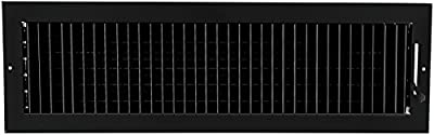 """24""""w X 6""""h Adjustable AIR Supply Diffuser - HVAC Vent Cover Sidewall or Ceiling - Grille Register - High Airflow - [Outer Dimensions: 25.75""""w X 7.75""""h]"""