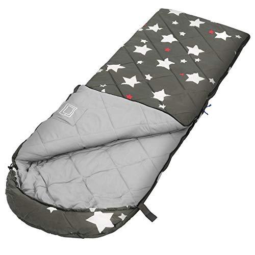 SONGMICS Schlafsack, Kinderschlafsack für Camping, kompakt, olivgrün GSB20CW