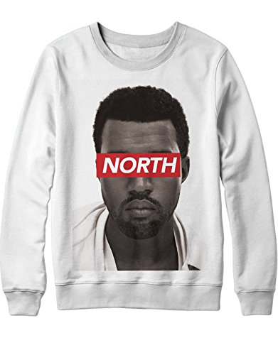 Sweatshirt Kanye West North Obey B385913 Weiß XL