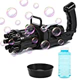 YKB Gatling Bubble Machine, Bubble Blaster Gun, 8-Hole Automatic Bubble Maker Machine, Electric Bubble Guns for Kids Outdoor, Gatling Bubble Gun 2021,Toys for Boys and Girls Toddler