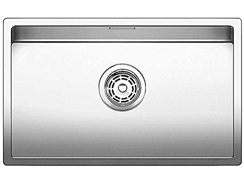 Blanco Claron 550-U Dampfgar-Edition Edelstahl-Spüle Seidenglanz