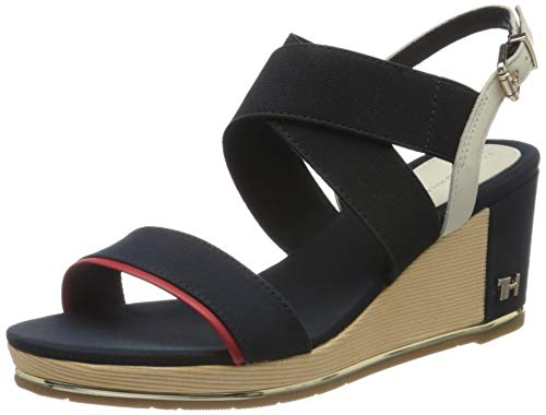 Tommy Hilfiger TH Hardware Basic Mid Wedge, Chanclas para Mujer