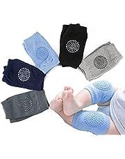 Baby Crawling Anti Slip Knee Pads, Unisex Baby Knee Protectors, Baby Knee Pads for Crawling, Toddler Knee Pads for Babies Safety Walking Knee Pads, 5 Pairs