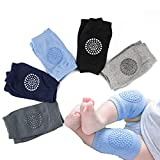Baby Knee Pads, Baby Knee Pads for Crawling, Anti Slip Baby Crawling Knee Pads, Unisex Baby Knee Protectors Toddler Leg Warmer, Safety Walking Kneepads, Knee Pads for Babies (5 Pairs)