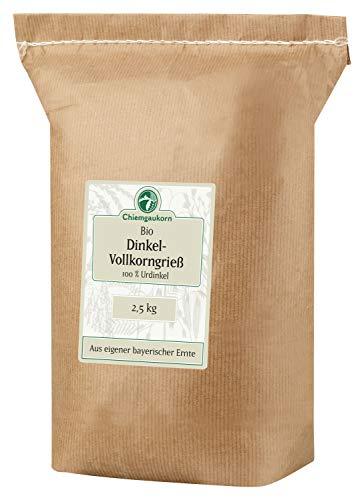 Chiemgaukorn Bio Dinkelgrieß Vollkorn 2,5 kg, Urdinkel