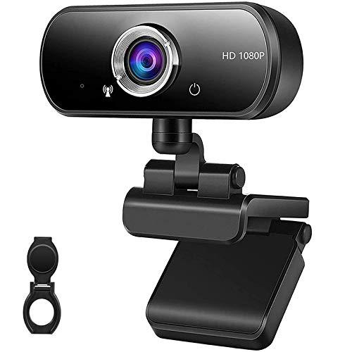 Kdely Webcam mit Mikrofon USB PC HD Streaming Webcam 1080P Plug und Play Web Kamera fur Videochat und Aufnahme Kompatibel mit WindowsMacLinuxAndroidSkypeYouTubeZoomFacebookFacetime