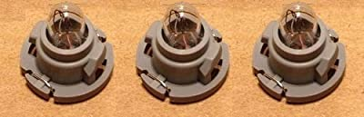 Dash Light Bulb Kit compatible with Dodge Ram Dakota 1500 2500 3500 Heater A/c Climate Control (Set of 3 Bulbs)