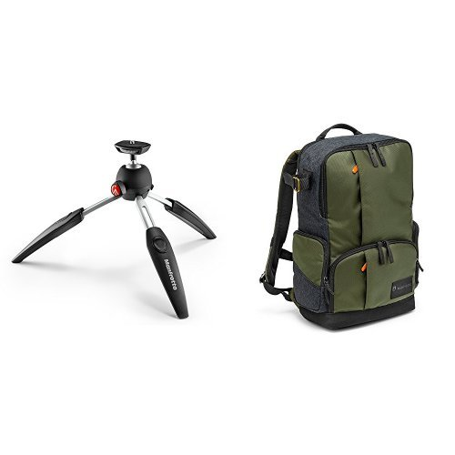 Manfrotto PIXI EVO 2-Section Mini Tripod with Street Backpack