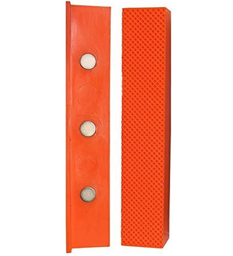 Weiche Schraubstock-Schutzbacken | GRIP&BENDER 150MM | Magnetische Schonbacken aus TPU-Kunststoff | Diese Spannbacken Schützen Ihr Werkstück | (158MM)