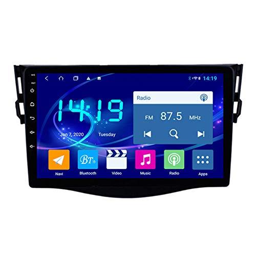 CARACHOME Navigazione GPS per Auto Android 10 da 9 Pollici per Toyota RAV4 2007-2012 Stereo Audio Radio Supporto Video Bluetooth Hands Free USB/SD Steering Wheel Control,4g&WiFi 4+64g