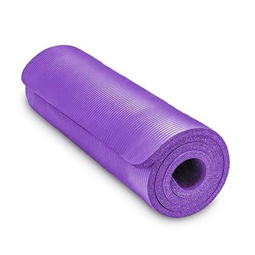 MCTY Esterilla de yoga de 20 mm extra gruesa, 183 x 61 cm de largo, alfombrilla de yoga antideslizante, alfombrilla de entrenamiento para hombres y mujeres