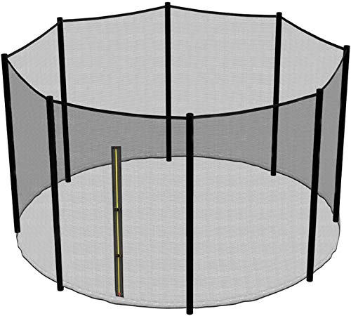 Greenbay Premium Replacement Safety Enclosure Net Netting (Net Only, Poles Not Included)   4mmx4mm UV resistant   for 14FT(427cm) 8 poles trampoline