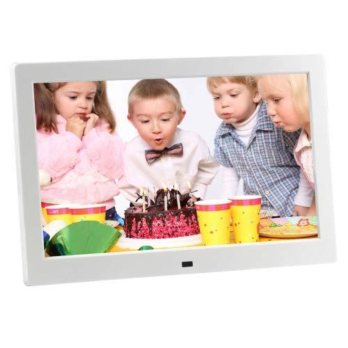 """Generic HSD-P520 - Marco de fotos digital con pantalla LCD de 10,1"""", soporte para entrada de tarjeta USB/SD, altavoz estéreo integrado, enchufe de la UE/EE. UU./Reino Unido (blanco)"""