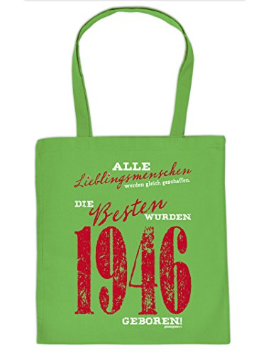 Einkaufstasche, Stofftasche, Tragetasche zum Geburtstag - Lieblingsmenschen. die Besten wurden 1946 geboren!