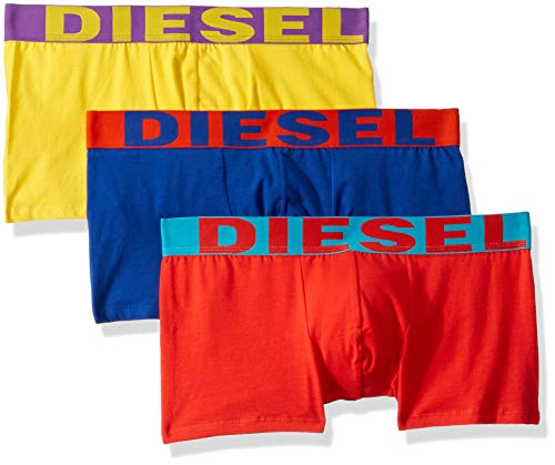 Diesel Herren Shawn 3 Pack Boxer Trunks Badehose, Rot/Blau/Gelb, Small