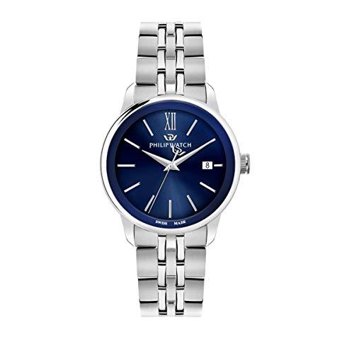 Philip Watch Orologio da uomo, Collezione Anniversary, movimento al quarzo, funzione tempo e data, in acciaio - R8253150007